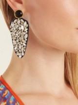 LIZZIE FORTUNATO Crystal Dagger embellished earrings
