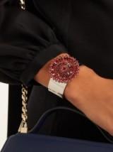 GIVENCHY Crystal-embellished cuff ~ statement cuffs