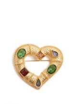 DOLCE & GABBANA Crystal-embellished heart brooch