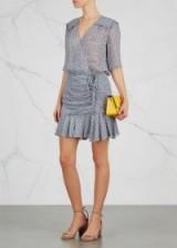 VERONICA BEARD Dakota floral-print silk chiffon mini dress