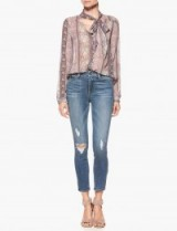 Paige Denim DION BLOUSE – BLUSH PINK BOHO BANDSTRIPE #blouses #stylish #fashion