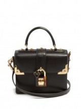 DOLCE & GABBANA Dolce Soft grained-leather bag ~ chic top handle bags ~ beautiful Italian accessories