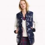 HILFIGER DENIM Durable Nylon Down Bomber | blue high shine jackets