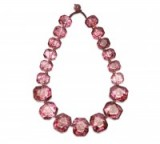 LOLA ROSE Elemental Chunky Nugget Necklace Burgundy Rock Crystal ~ statement necklaces