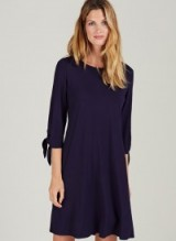 ISABELLA OLIVER ELSA MATERNITY DRESS ~ navy blue pregnancy dresses