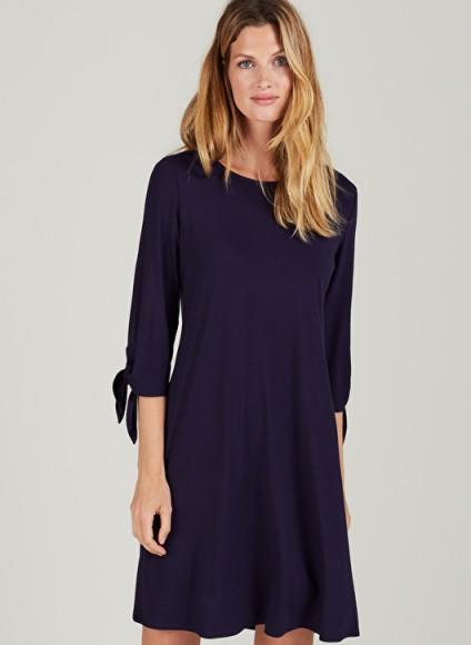 ISABELLA OLIVER ELSA MATERNITY DRESS ~ navy blue pregnancy dresses