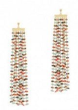ELIZABETH AND JAMES Emmy 24kt gold-plated drop earrings ~ beaded statement jewellery ~ chic cocktail accessories