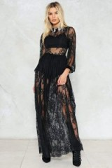 Nasty Gal Endless Lace Maxi Dress ~ sheer black dresses