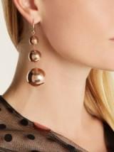 ISABEL MARANT Ex Voto triple sphere-drop earrings ~ rose-gold tone cocktail jewellery