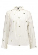 Fashion Union COSMIC Blouse | white high neck blouses