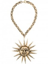 FAUSTO PUGLISI sundial chain necklace ~ statement necklaces ~ large pendants