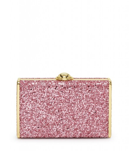 Henri Bendel FLIPLOCK PARTY BOX – pink glitter going out bags