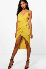 boohoo Florence Strappy Wrap Detail Midi Dress ~ going out dresses