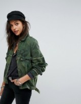 Free People Slouchy Military Camo Jacket