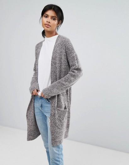 French Connection Chunky Oversized Cardigan #cardigans #knitwear #grey #long #casual
