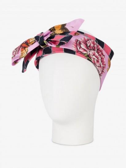 Gucci Printed Head Scarf / silk headscarves