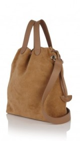 meli melo hazel tote bag light tan – slouchy suede bags