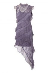 TOPSHOP High Neck Lace Shift Dress ~ ruffled lilac party dresses