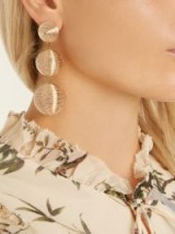 REBECCA DE RAVENEL India drop earrings ~ statement cocktail jewellery