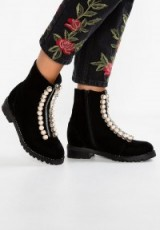 Jeffrey Campbell Pearl Embellished Boots black
