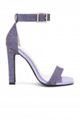 Jeffrey Campbell OBUS Multi Glitter heels – barely there evening shoes