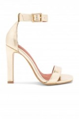 12195665f9bd Jeffrey Campbell OBUS HEELS ~ gold metallic ankle strap sandals