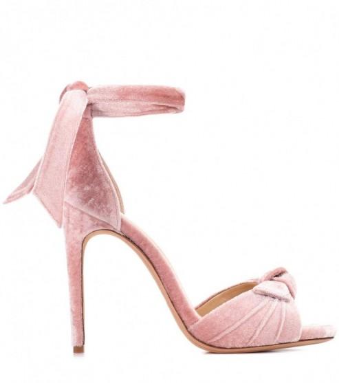 ALEXANDRE BIRMAN Jessica velvet sandals – pink heels