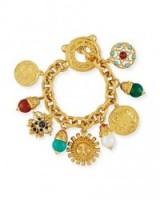 Jose & Maria Barrera Sun Coin charm bracelet ~ statement bracelets ~ charms