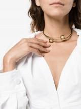 J.W.Anderson Pierce Open Choker | gold metal chokers | contemporary jewellery