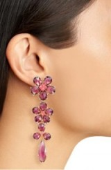 KATE SPADE NEW YORK in full bloom linear drop earrings – floral statement jewellery – cocktail accessories