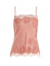 CARINE GILSON Lace-trimmed silk-satin cami top ~ luxe nightwear