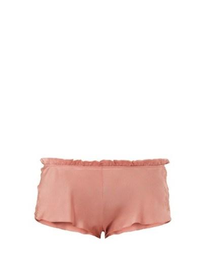 CARINE GILSON Lace-trimmed silk-satin pyjama shorts ~ nightwear - flipped
