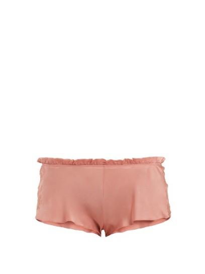 CARINE GILSON Lace-trimmed silk-satin pyjama shorts ~ nightwear