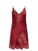 CARINE GILSON Lace-trimmed silk-satin slip ~ luxe nightwear