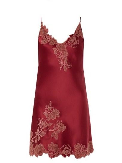 CARINE GILSON Lace-trimmed silk-satin slip ~ luxe nightwear - flipped