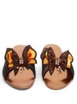 SOPHIA WEBSTER Lana sequin-embellished slides | butterfly flats