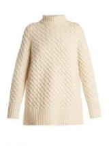 THE ROW Landy oversized cashmere sweater ~ oversized high neck ivory sweaters ~ chic knitwear