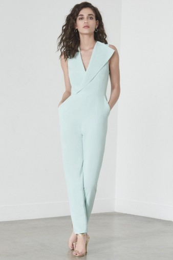 lavish alice Sleeveless Tailored Jumpsuit in Mint #evening #jumpsuits