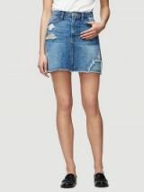 Frame Le Mini Skirt Raw Edge – distressed denim skirts