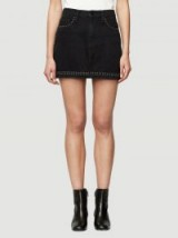 Frame Le Studded Mini Skirt – black denim skirts