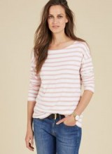 BAUKJEN LILLY RELAXED TOP / Pink & White Stripe tops