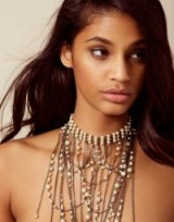 Agent Provocateur Lulu Neck Piece Gunmetal And Pearl ~ statement necklaces
