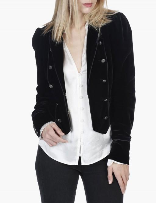Paige Denim MARIBEL JACKET – BLACK VELVET #military #jackets #casual #style
