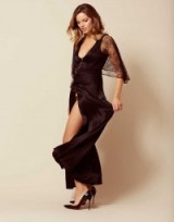 Agent Provocateur Marla Gown Black ~ beautiful silk and lace nightwear