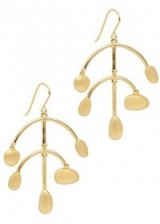 ELIZABETH AND JAMES Martina Chandelier gold-plated earrings