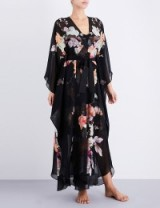 MENG Floral-print silk-chiffon robe ~ luxury robes ~ luxe nightwear