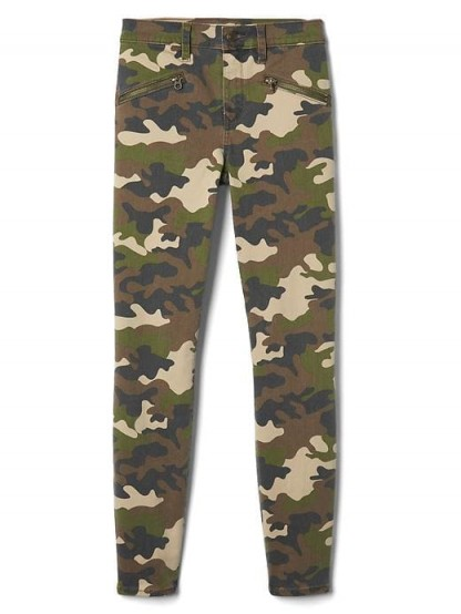 GAP Mid rise camo zip true skinny jeans #army #casual #trousers #pants