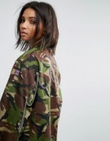 Milk It Vintage Camo Jacket With Back Chains ~ camouflage print jackets