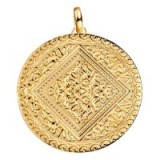 MONICA VINADER MARIE PENDANT 18ct Gold Vermeil on Sterling Silver | large round pendants
