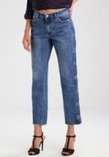 Missguided WIDE LEG POPPER Straight leg jeans